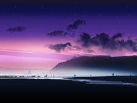 Beach Starry Sunset