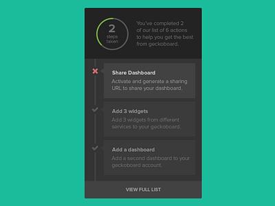 Checklist UI checklist timeline flat flat design chart status status indicator ui