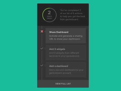 Checklist UI