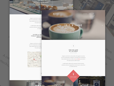 JustBean - Finally Launched! web coffee blog post text images big images website article typography