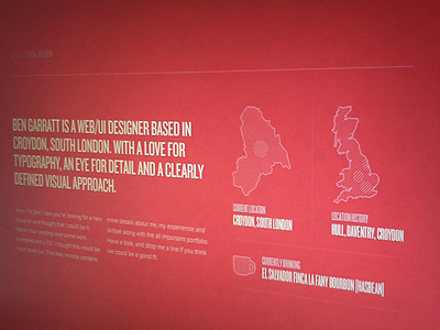 Locations & Coffee web typogrpahy red portfolio map locations coffee