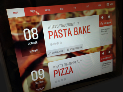 Meal Planner App app ipad ui food app design