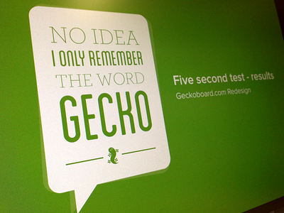 The word Gecko green cover quote gecko speech bubble type typography