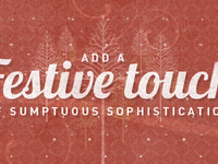 Festive touch