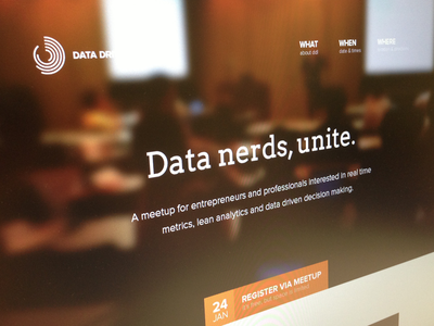 Data Nerds, Unite. web type minisite event image navigation