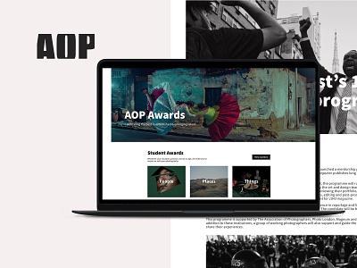 AOP Awards Website photography xd design xd web design web website