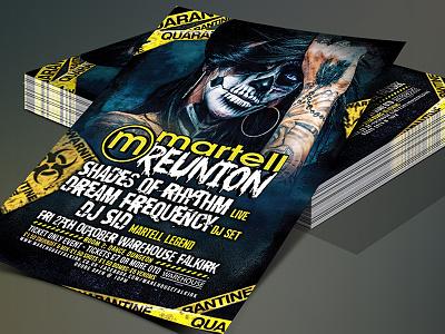 MARTELL REUNION HALLOWEEN rave flyer design event artwork scary horror halloween digitalart