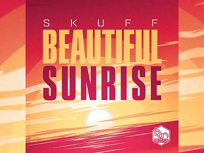 SKUFF: BEAUTIFUL SUNRISE music illustration drum n bass dnb digital art