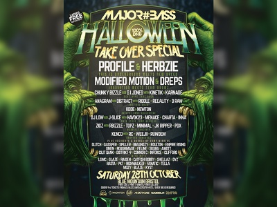 M#B HALLOWEEN TAKE OVER SPECIAL flyer halloween goblin