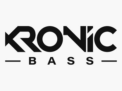 KRONIC BASS typography branding vector drumnbass design logo dnb