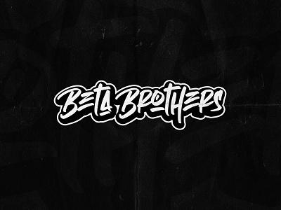 """""""BETA BROTHERS"""" Logotype rave branding urban logotype logo dnb"""