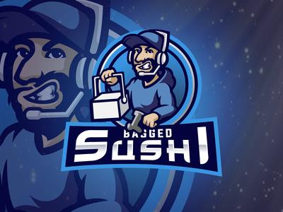 Bagged Sushi Mascot logo