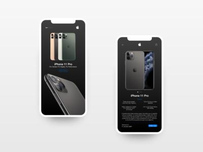 Apple Store App UI concept