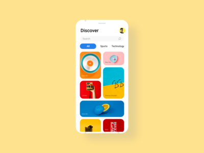 Unsplash App UI concept