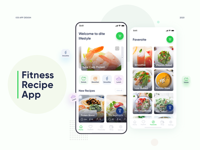 Food Recipe App ui user experience minimal flat fitness balance food keto diet mobile ui figma healthy food mobile app diet chart weight loss food app nutrition diet fitness app