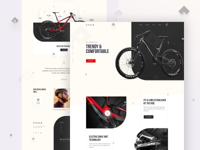 Bicycle Landing Page ux branding agency landing page userinterface minimal flat website user experience luxurious luxery ecommerce business ecommerce design ecommerce bicycle shop bicycle days bicycle