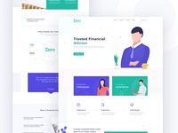 Financial Advisory Landing Page