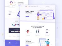 Event Management Company Landing Page