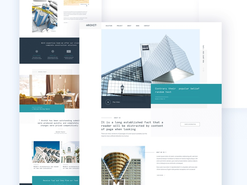 Architecture Agency Landing page