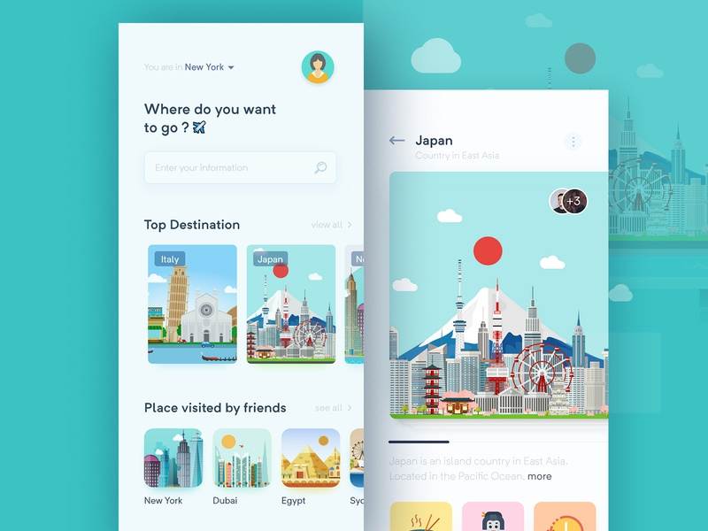 Travel App Concept tour guide trave travel agent travel app app mobile illustration vector minimal flat userinterface user experience
