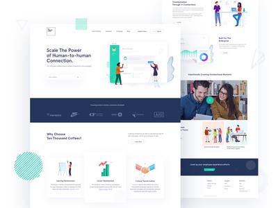 Human Connections  Enterprise Landing page