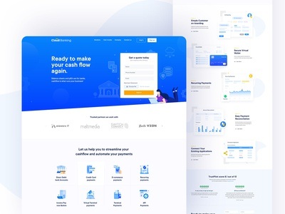 Cloud Banking website design