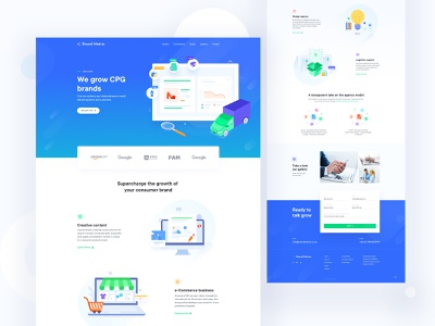Consumer Packaged Goods Landing page website landing page agency illustration user experience flat userinterface minimal logistics ecommerce business web product consumer goods consumer
