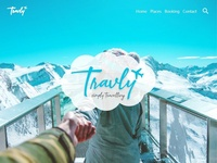 Travly - Simply Travelling UI/UX Web Design