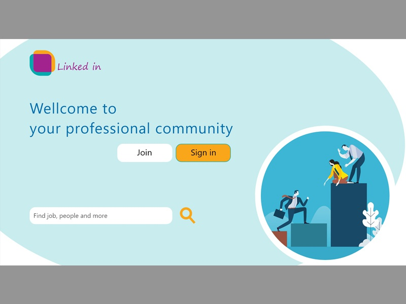 Linked in first page by Ehsan Doroudian on Dribbble