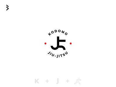 JiuJitsu Club logo taekwondo japan inspiration kungfu karate letter j letter k white red black branding fight mark jiujitsu martial arts logo
