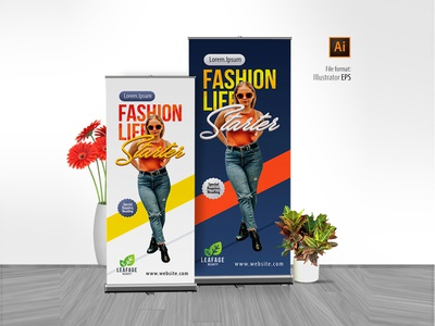 Advertisement Fashion Rollup Banner design inspiration signage discount offer sale promotion product banner rollup advertisement fashion