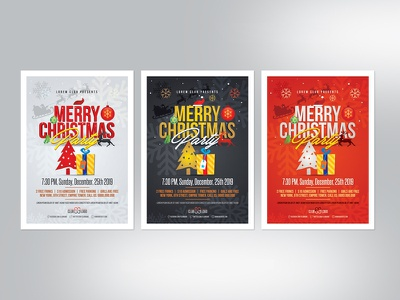 Christmas Flyer | Party & Event event snow tree christmas party flyer red flyer red poster christmas flyer party flyer merry x x-mas christmas mas christ