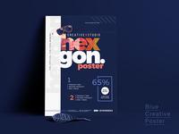 Navy Blue Creative Poster Design