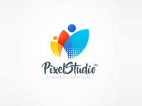 Colorful Floral Logo Pixel Studio