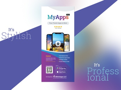 Apps Rollup Banner Signage