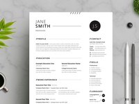 Black White Minimal Resume
