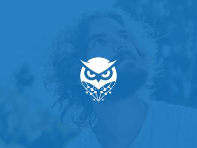 Modern owl logo design