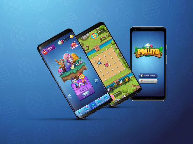 Game UI & Game Art - Pollito concept character cartoon character artwork digitalart cartoon game development casual game game uidesign ui  ux ui gui game designer game artist game design game asset game art game ui
