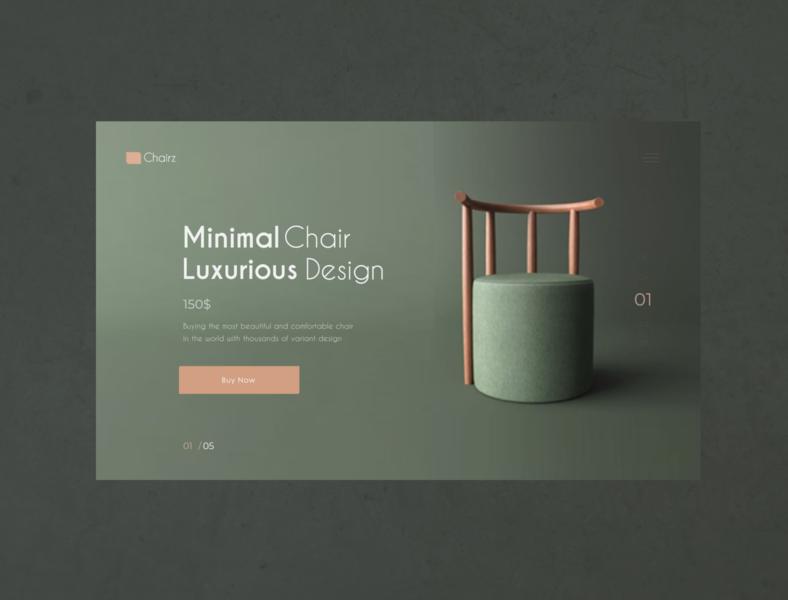 Minimal chair landing page