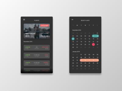 Mobile Flights UI