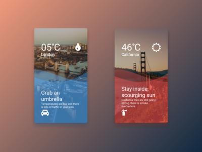 Mobile Weather UI