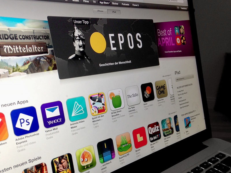 Epos Feature ipad emag ui ux featured appstore