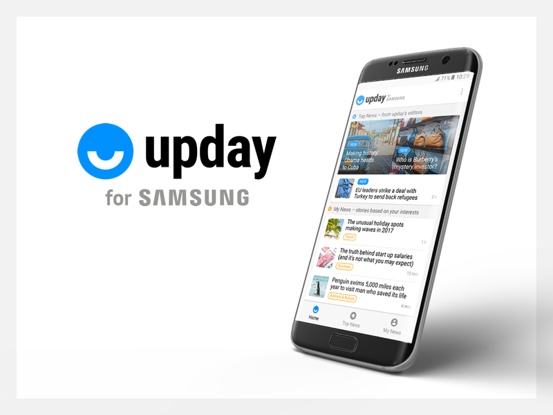 upday for Samsung app branding android visual design interaction design ux ui