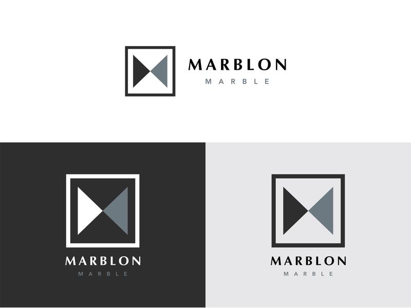 """MARBLON"" LOGO marblon marble marblelogo mlogo creative logo 2020 new logo brand identity lettering flat minimal icon branding logo"
