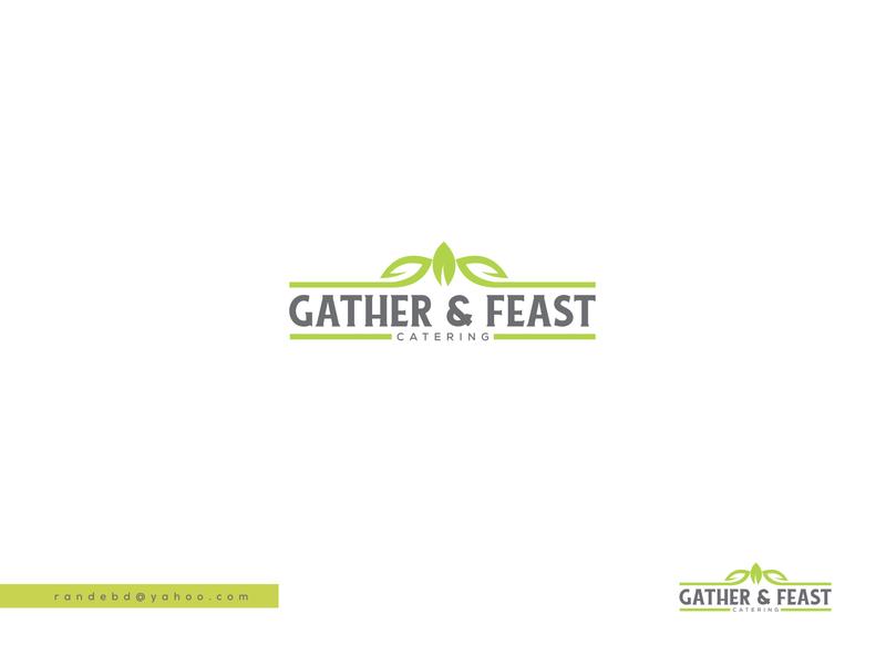 "logo design for ""Gather & Feast Catering"" vector design creative minimal branding logo"