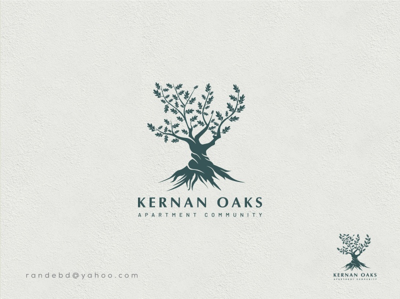 "Logo ""kernan oaks"" logo 2020 brand identity creative flat typography minimal branding vector icon logo"