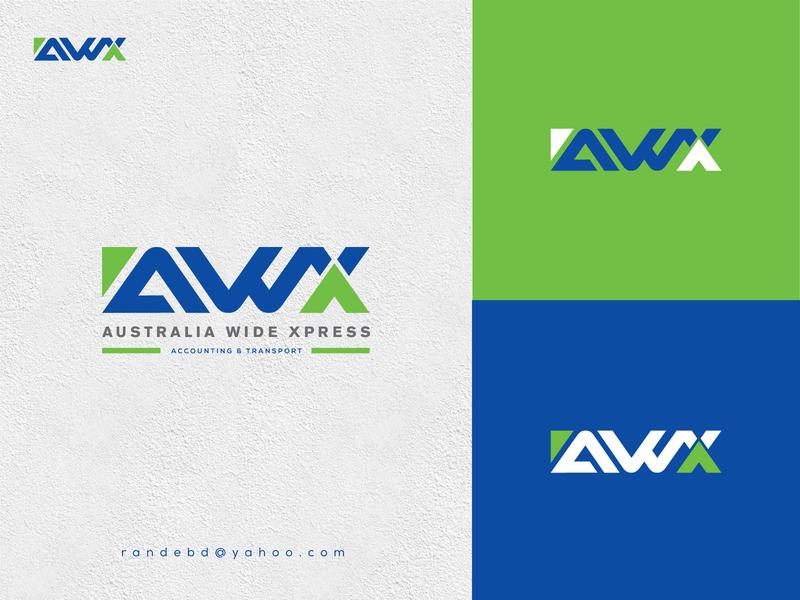 """Logo for """"AWX"""" flat new logo vector transport creative lettering minimal branding logo"""