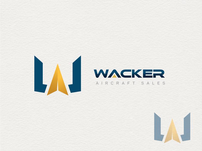 "Logo ""wacker"" vector brand identity new logo illustrator creative lettering minimal flat branding logo"