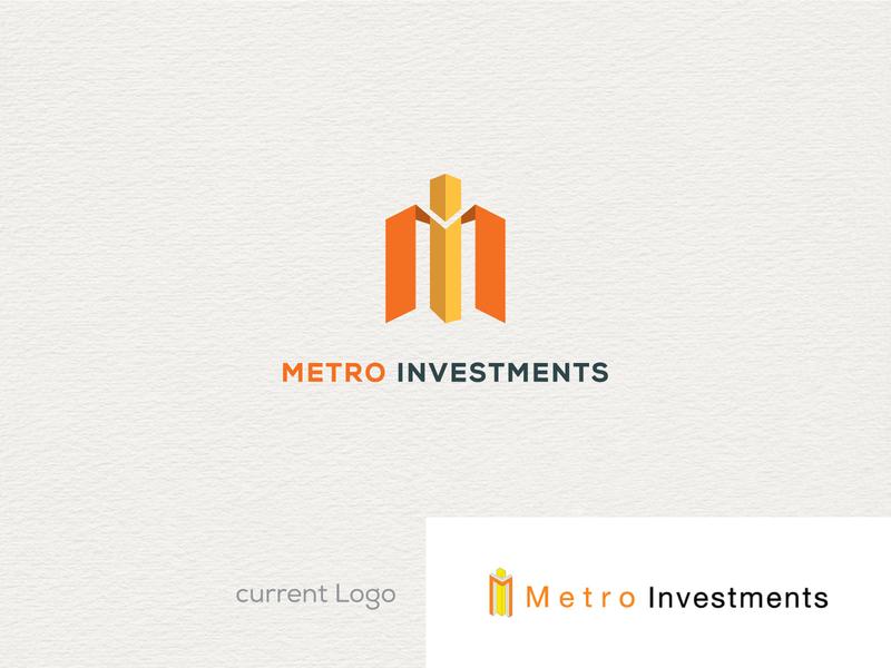 "Logo re-designing of ""Metro Investments"" logo 2020 typography mlogo redesign new logo brand identity lettering creative minimal branding logo"