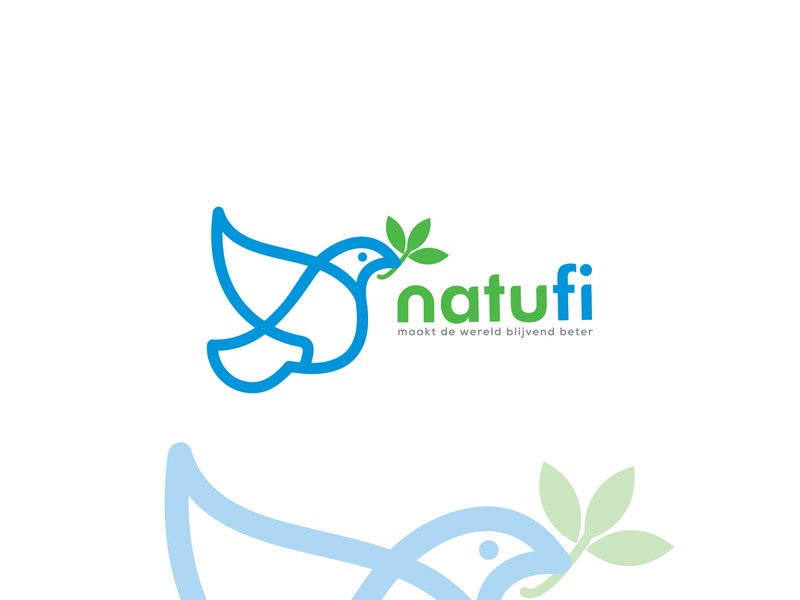"""Natufi"" Logo design project. web logo lettering logo 2020 new logo brand identity creative flat minimal branding logo"